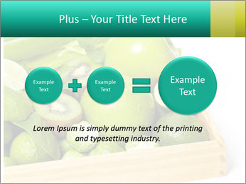 Fresh green vegetables and fruits PowerPoint Template - Slide 75