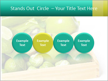 Fresh green vegetables and fruits PowerPoint Templates - Slide 76