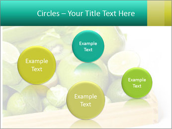 Fresh green vegetables and fruits PowerPoint Template - Slide 77