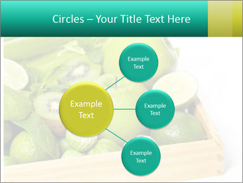 Fresh green vegetables and fruits PowerPoint Templates - Slide 79