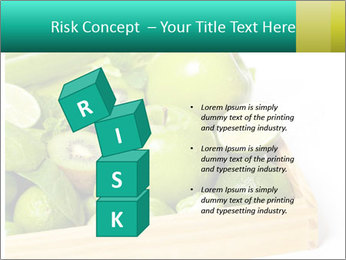 Fresh green vegetables and fruits PowerPoint Templates - Slide 81