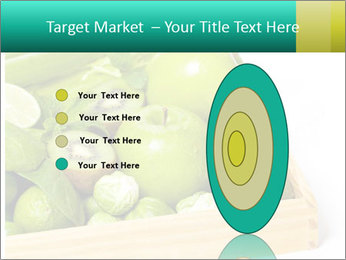 Fresh green vegetables and fruits PowerPoint Template - Slide 84