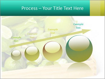 Fresh green vegetables and fruits PowerPoint Template - Slide 87