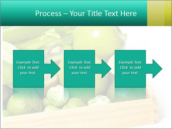 Fresh green vegetables and fruits PowerPoint Template - Slide 88