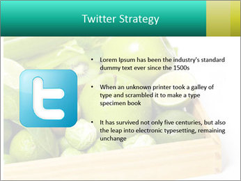 Fresh green vegetables and fruits PowerPoint Templates - Slide 9