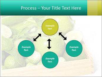 Fresh green vegetables and fruits PowerPoint Template - Slide 91