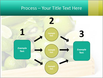 Fresh green vegetables and fruits PowerPoint Template - Slide 92