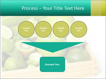 Fresh green vegetables and fruits PowerPoint Template - Slide 93