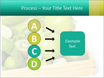 Fresh green vegetables and fruits PowerPoint Template - Slide 94