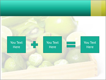 Fresh green vegetables and fruits PowerPoint Templates - Slide 95