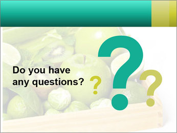 Fresh green vegetables and fruits PowerPoint Templates - Slide 96