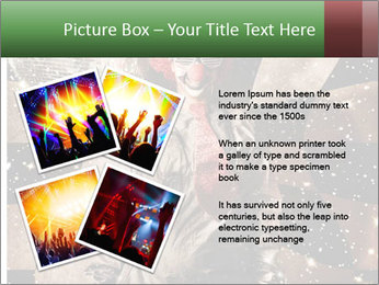 Crazy dancing disco clown PowerPoint Templates - Slide 23
