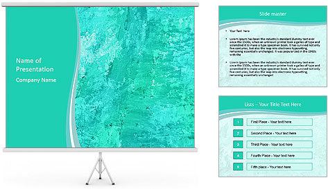 Mint abstract PowerPoint Template