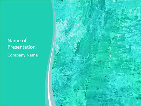 Mint abstract PowerPoint Templates