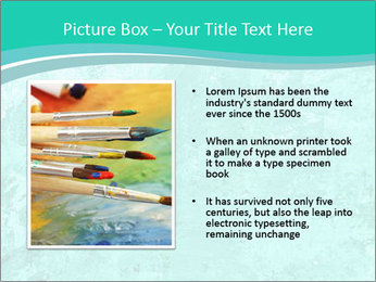 Mint abstract PowerPoint Template - Slide 13