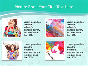 Mint abstract PowerPoint Template - Slide 14