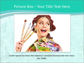Mint abstract PowerPoint Template - Slide 15