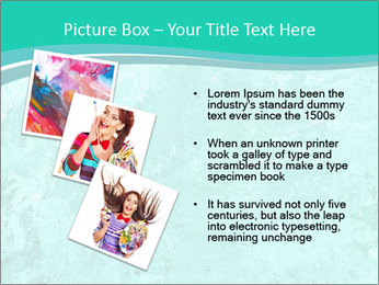 Mint abstract PowerPoint Template - Slide 17