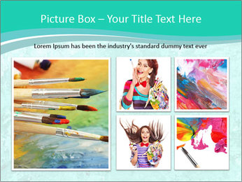 Mint abstract PowerPoint Template - Slide 19