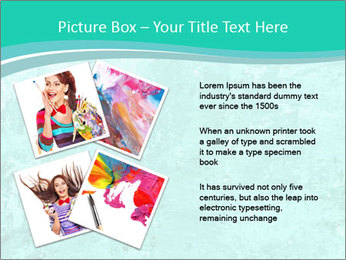Mint abstract PowerPoint Template - Slide 23