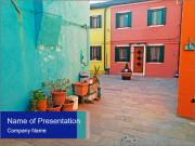 Colorful corner in Burano PowerPoint Template