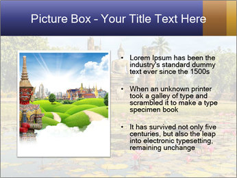 Buddha Statue at Wat Mahathat in Sukhothai Historical Park PowerPoint Template - Slide 13
