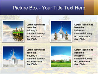 Buddha Statue at Wat Mahathat in Sukhothai Historical Park PowerPoint Template - Slide 14