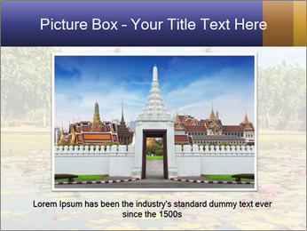 Buddha Statue at Wat Mahathat in Sukhothai Historical Park PowerPoint Templates - Slide 16