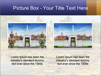 Buddha Statue at Wat Mahathat in Sukhothai Historical Park PowerPoint Templates - Slide 18