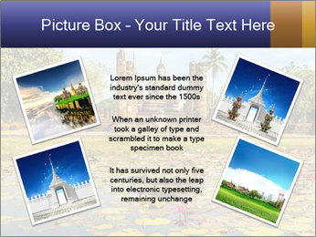 Buddha Statue at Wat Mahathat in Sukhothai Historical Park PowerPoint Template - Slide 24