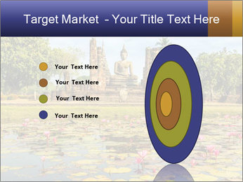Buddha Statue at Wat Mahathat in Sukhothai Historical Park PowerPoint Templates - Slide 84