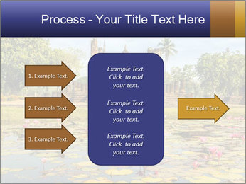 Buddha Statue at Wat Mahathat in Sukhothai Historical Park PowerPoint Template - Slide 85