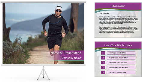 Portrait of a trail runner PowerPoint Template