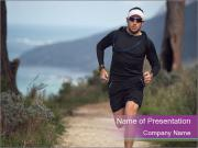 Portrait of a trail runner PowerPoint Templates