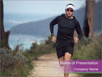 Portrait of a trail runner PowerPoint Templates - Slide 1