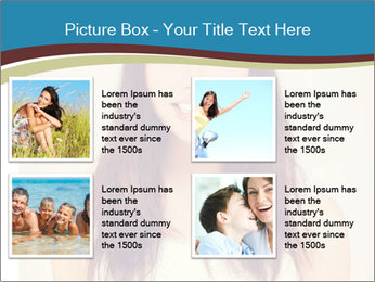 Beauty portrait of a young brunette woman PowerPoint Template - Slide 14