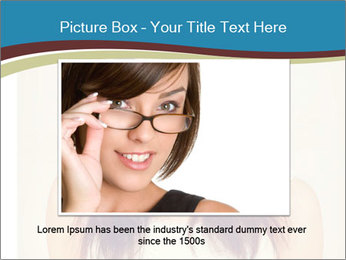 Beauty portrait of a young brunette woman PowerPoint Template - Slide 15