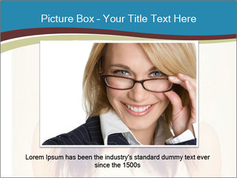 Beauty portrait of a young brunette woman PowerPoint Template - Slide 16