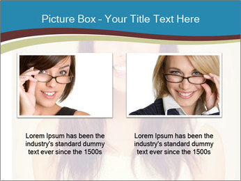 Beauty portrait of a young brunette woman PowerPoint Template - Slide 18