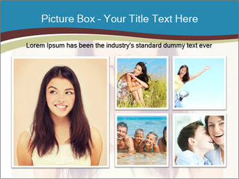 Beauty portrait of a young brunette woman PowerPoint Template - Slide 19
