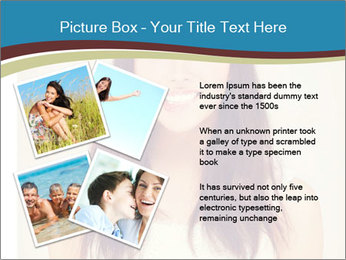 Beauty portrait of a young brunette woman PowerPoint Template - Slide 23