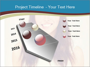 Beauty portrait of a young brunette woman PowerPoint Template - Slide 26