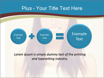 Beauty portrait of a young brunette woman PowerPoint Template - Slide 75