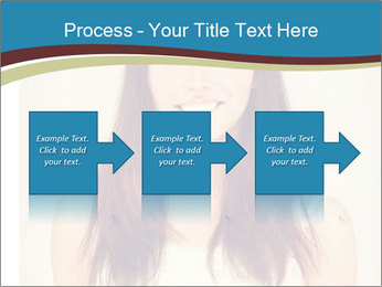 Beauty portrait of a young brunette woman PowerPoint Template - Slide 88