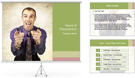 Salesman offers PowerPoint Template