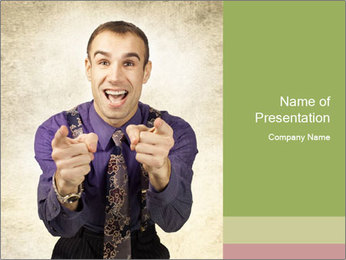 Salesman offers PowerPoint Template - Slide 1