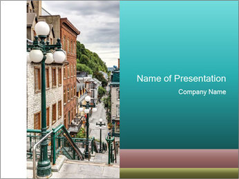 The historic district of Old Quebec PowerPoint Template - Slide 1