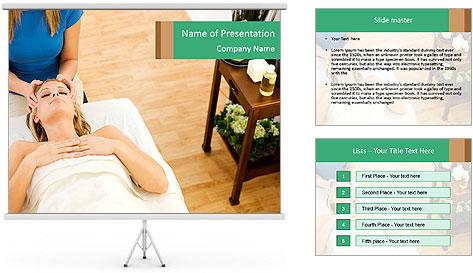 Face massage PowerPoint Template