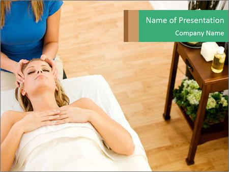 Face massage PowerPoint Templates