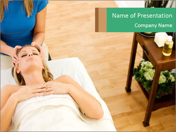 Face massage PowerPoint Template